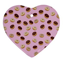 Donuts pattern Heart Ornament (Two Sides)
