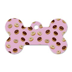 Donuts pattern Dog Tag Bone (One Side)
