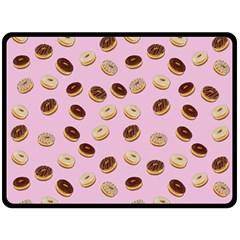 Donuts pattern Fleece Blanket (Large)