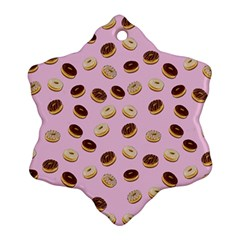Donuts pattern Snowflake Ornament (Two Sides)