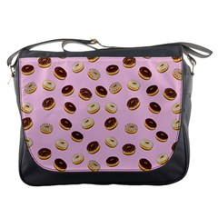 Donuts pattern Messenger Bags