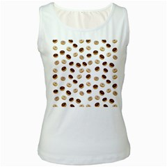 Donuts pattern Women s White Tank Top