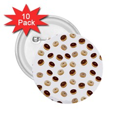 Donuts pattern 2.25  Buttons (10 pack)