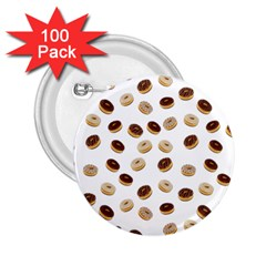 Donuts pattern 2.25  Buttons (100 pack)