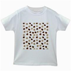 Donuts pattern Kids White T-Shirts