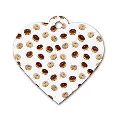Donuts pattern Dog Tag Heart (One Side)