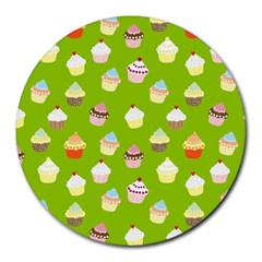 Cupcakes pattern Round Mousepads