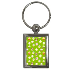 Cupcakes pattern Key Chains (Rectangle)