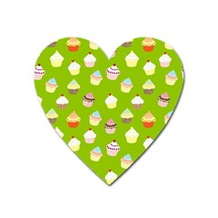 Cupcakes pattern Heart Magnet