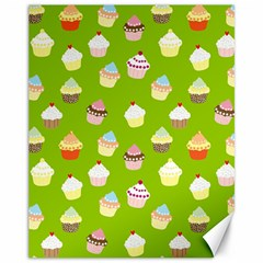 Cupcakes pattern Canvas 11  x 14