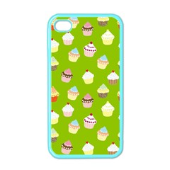 Cupcakes pattern Apple iPhone 4 Case (Color)