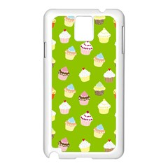 Cupcakes pattern Samsung Galaxy Note 3 N9005 Case (White)