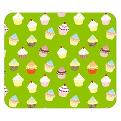 Cupcakes pattern Double Sided Flano Blanket (Small)