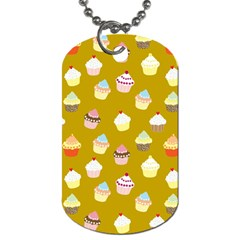 Cupcakes pattern Dog Tag (One Side)