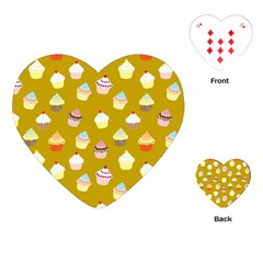 Cupcakes pattern Playing Cards (Heart)