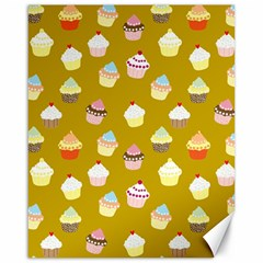Cupcakes pattern Canvas 16  x 20