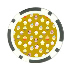 Cupcakes pattern Poker Chip Card Guard (10 pack)