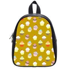 Cupcakes pattern School Bags (Small)