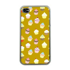 Cupcakes pattern Apple iPhone 4 Case (Clear)