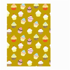 Cupcakes pattern Small Garden Flag (Two Sides)