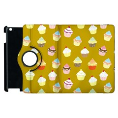 Cupcakes pattern Apple iPad 2 Flip 360 Case