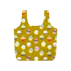 Cupcakes pattern Full Print Recycle Bags (S)