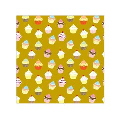Cupcakes pattern Small Satin Scarf (Square)