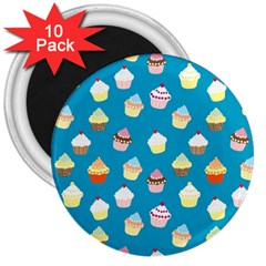 Cupcakes pattern 3  Magnets (10 pack)