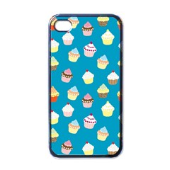 Cupcakes pattern Apple iPhone 4 Case (Black)