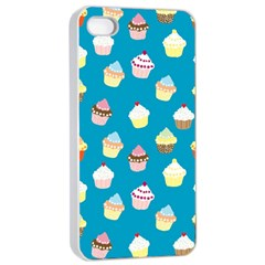 Cupcakes pattern Apple iPhone 4/4s Seamless Case (White)