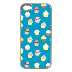 Cupcakes pattern Apple iPhone 5 Case (Silver)