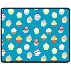 Cupcakes pattern Double Sided Fleece Blanket (Medium)