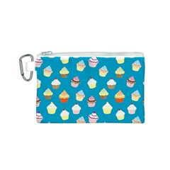 Cupcakes pattern Canvas Cosmetic Bag (S)