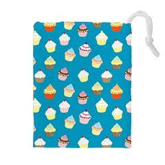 Cupcakes pattern Drawstring Pouches (Extra Large)