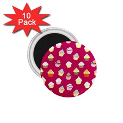Cupcakes pattern 1.75  Magnets (10 pack)