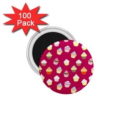 Cupcakes pattern 1.75  Magnets (100 pack)
