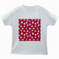 Cupcakes pattern Kids White T-Shirts