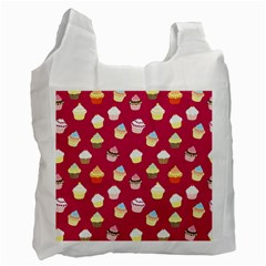 Cupcakes pattern Recycle Bag (One Side)