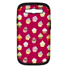 Cupcakes pattern Samsung Galaxy S III Hardshell Case (PC+Silicone)