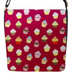 Cupcakes pattern Flap Messenger Bag (S)
