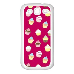 Cupcakes pattern Samsung Galaxy S3 Back Case (White)