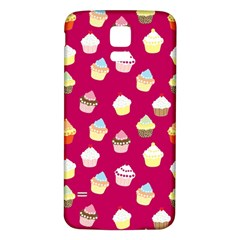 Cupcakes pattern Samsung Galaxy S5 Back Case (White)