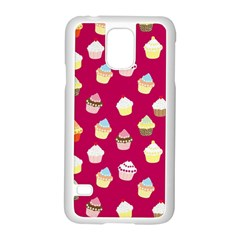 Cupcakes pattern Samsung Galaxy S5 Case (White)