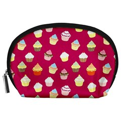 Cupcakes pattern Accessory Pouches (Large)