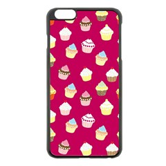 Cupcakes pattern Apple iPhone 6 Plus/6S Plus Black Enamel Case