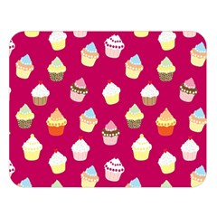 Cupcakes pattern Double Sided Flano Blanket (Large)