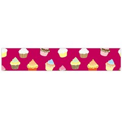 Cupcakes pattern Flano Scarf (Large)