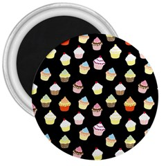 Cupcakes pattern 3  Magnets