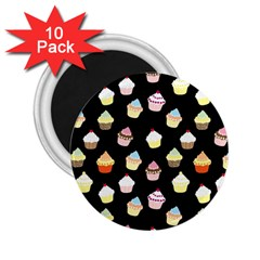 Cupcakes pattern 2.25  Magnets (10 pack)