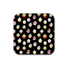 Cupcakes pattern Rubber Square Coaster (4 pack)